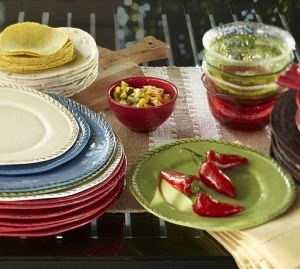 Pottery Barn outdoor dishes