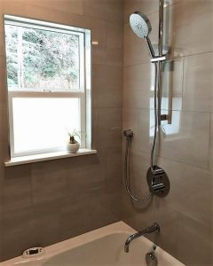 Aquabrass shower set. bathroom design by Urban Aesthetics