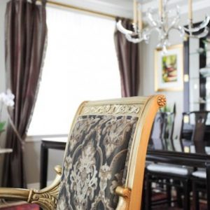 Traditional custom furniture and drapes