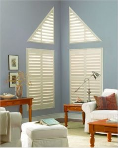 Shutter custom built for triangle windows