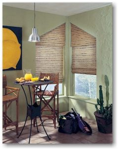 Woven woods angle top shades - photo from Hunter Douglas