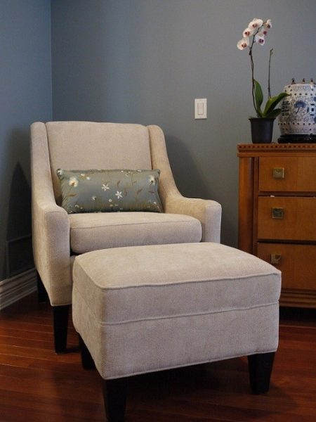 Bedroom refresh with custom chair