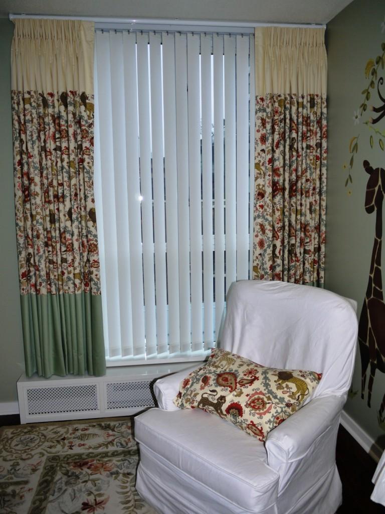custom nursery drapes