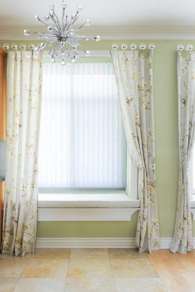 Drapery panels on FR windows