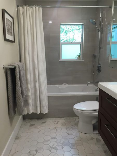 Bathroom renovation completed