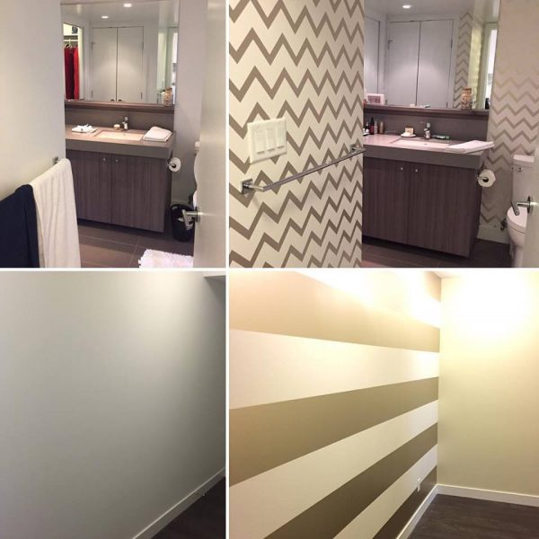use wallpaper to add style