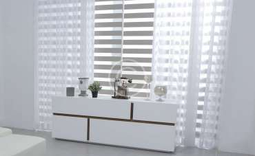 White Fitted Window Shutters