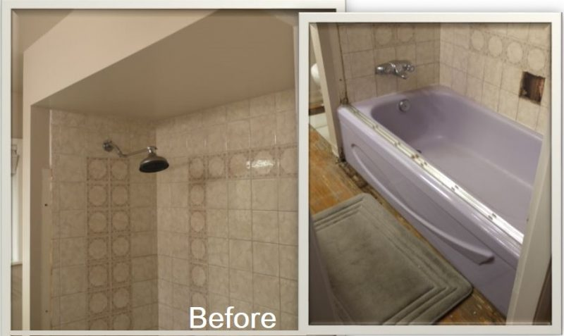Ensuite before bathroom renovation on a budget
