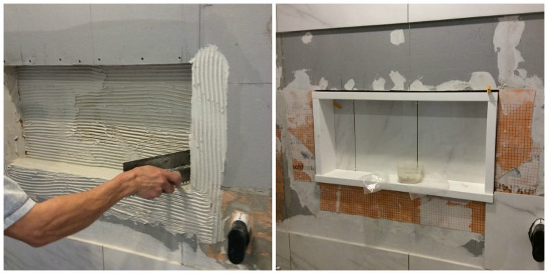 Budget saving - build your own shower niche and edge with quartz