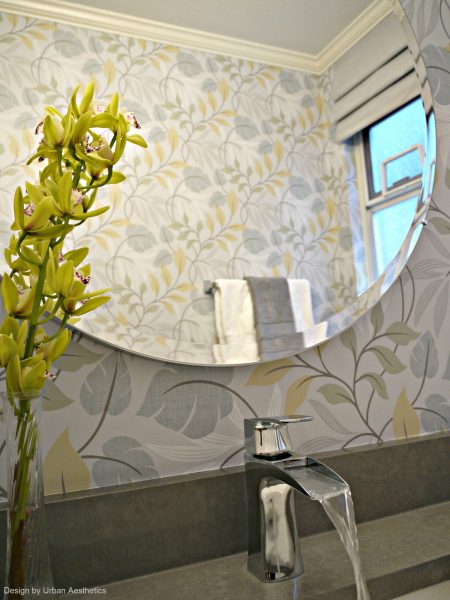 Reflection-Powder-Room-bathroom-renovation-leaf-wallpaper