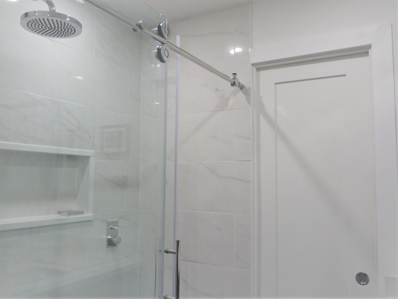 Glass sliding shower-door-and-entry-pocket-door