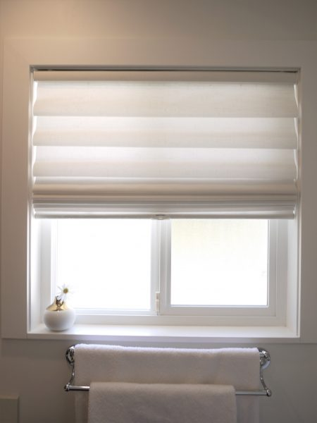 Vignette Roman Shade by Hunter Douglas, Linen light filtering fabric